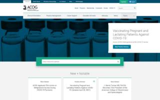 ACOG Website